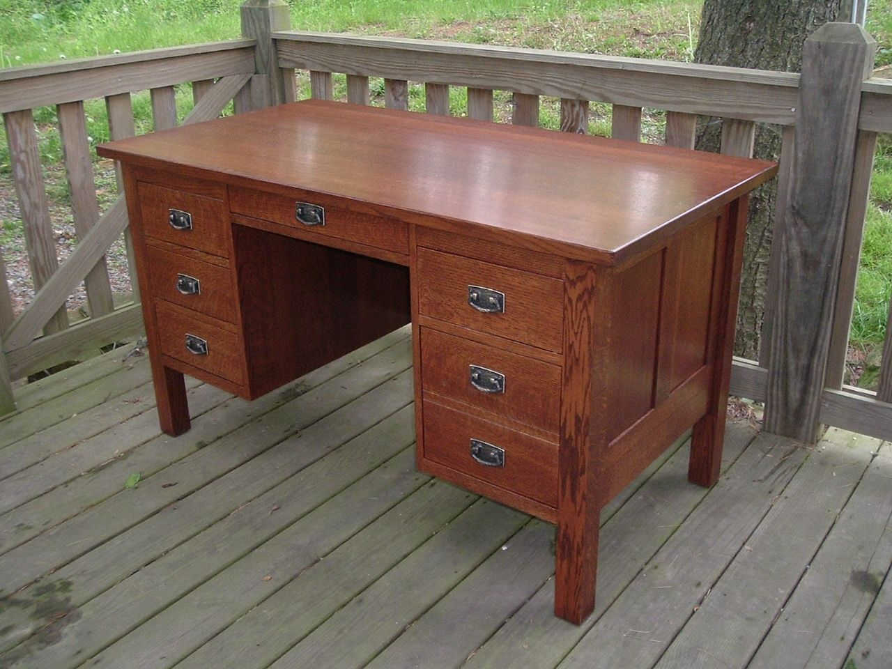 Custom Traditional Oak Home Office Desk By Ivy Lane Fine