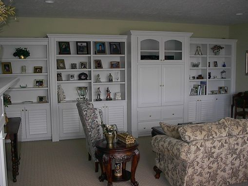 Custom Made Painted Entertainment Center