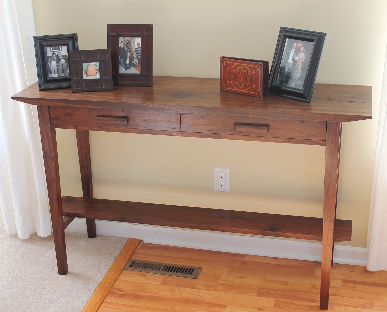 15 Entrance Hall Table Styles To Marvel At: Hand Made Walnut Hall Table By Chatsworth Furniture Co