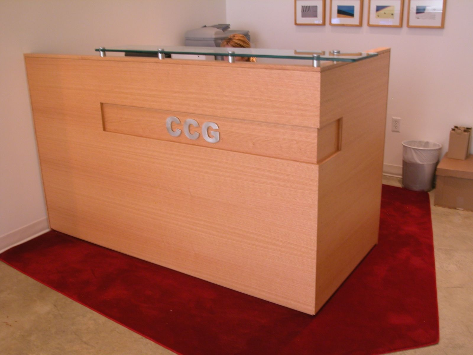cool custom reception desk furniture | Custom Made Front Desk by Ezequiel Rotstain Design ...