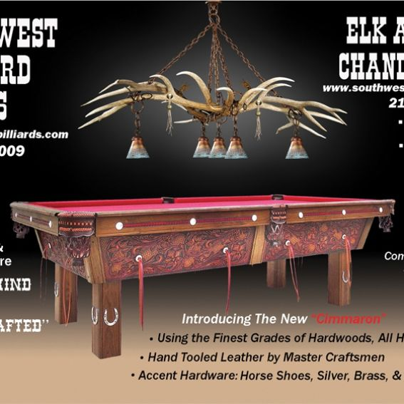 Hand Made Elk Antler Chandelier (Above Pool Table) By
