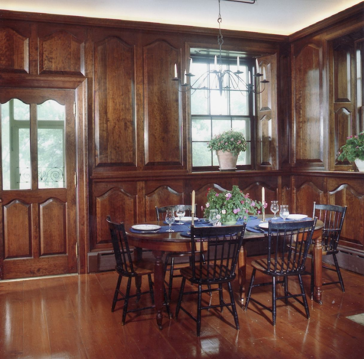 Kitchen Wall Wainscoting: Custom Made Formal Wall Paneling & Door