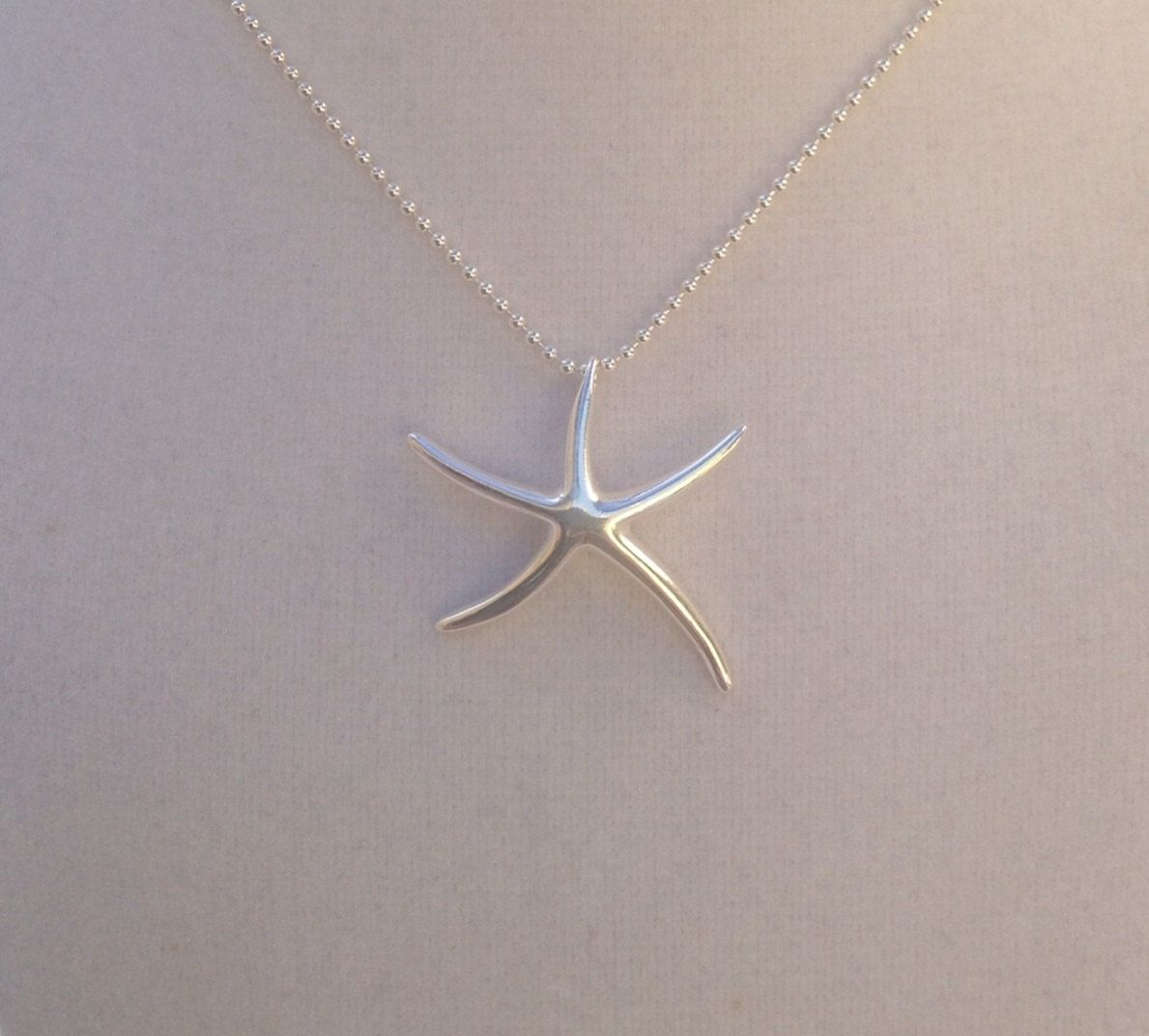 crafted style sterling silver starfish