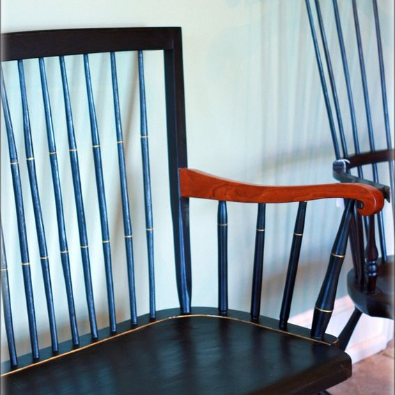 Custom Made Windsor Bench With Cherry Arms By T Kelly