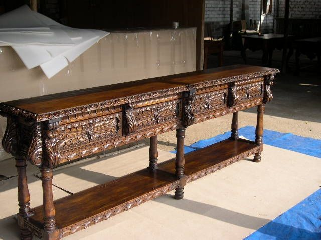 Hand Made Renaissance Quot Cusco Quot Console Table By