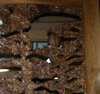 Custom Made Carved Entry Door,Bald Eagle In Forest On Black Walnut.