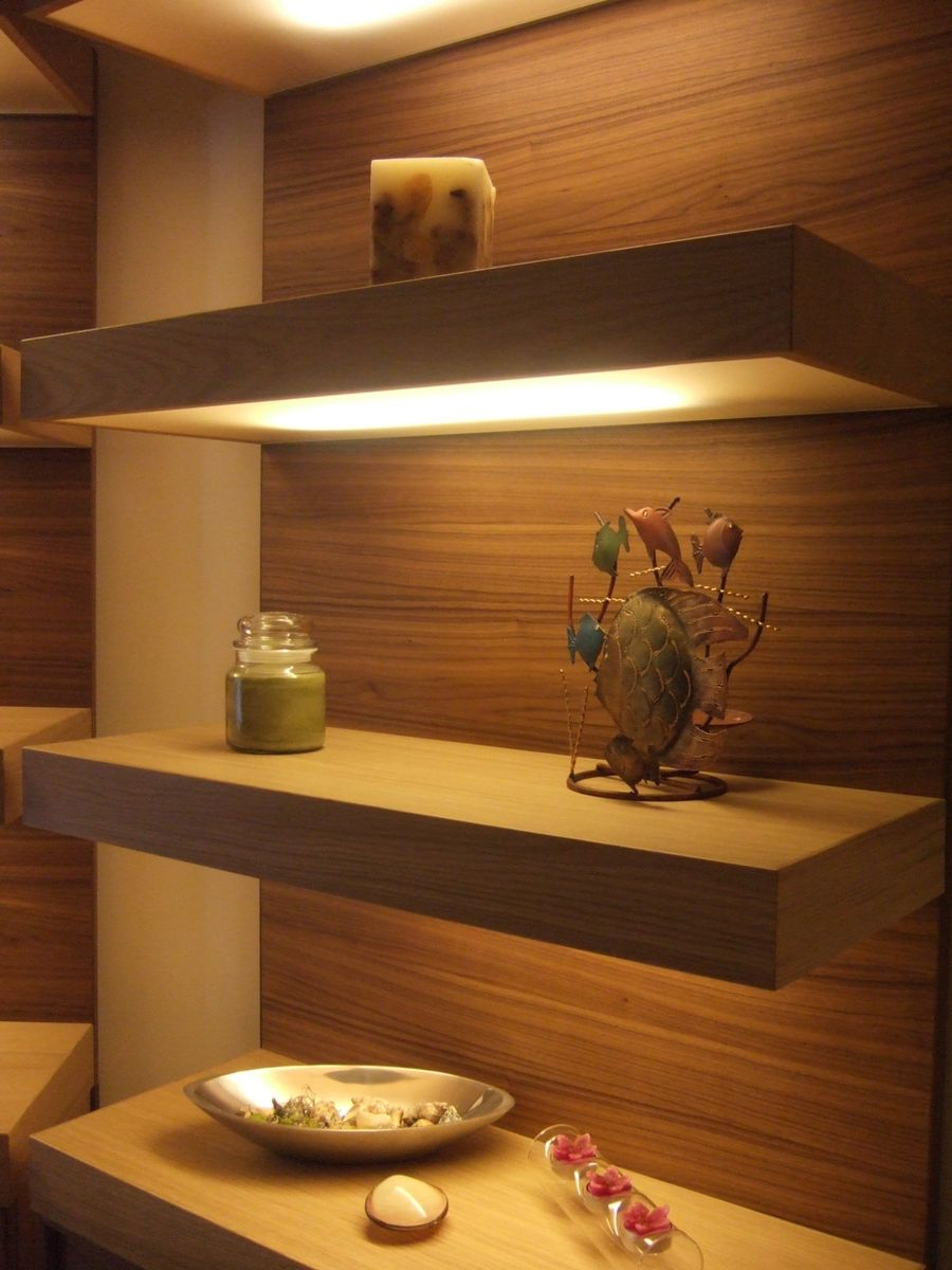 Custom Made Lighted Floating Shelves By Ecostruction Llc Custommade Com