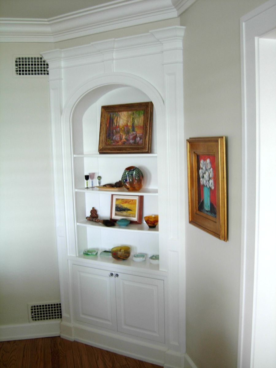Hand crafted dining room built ins by jim jakubowski inc for Built in dining room cabinet designs