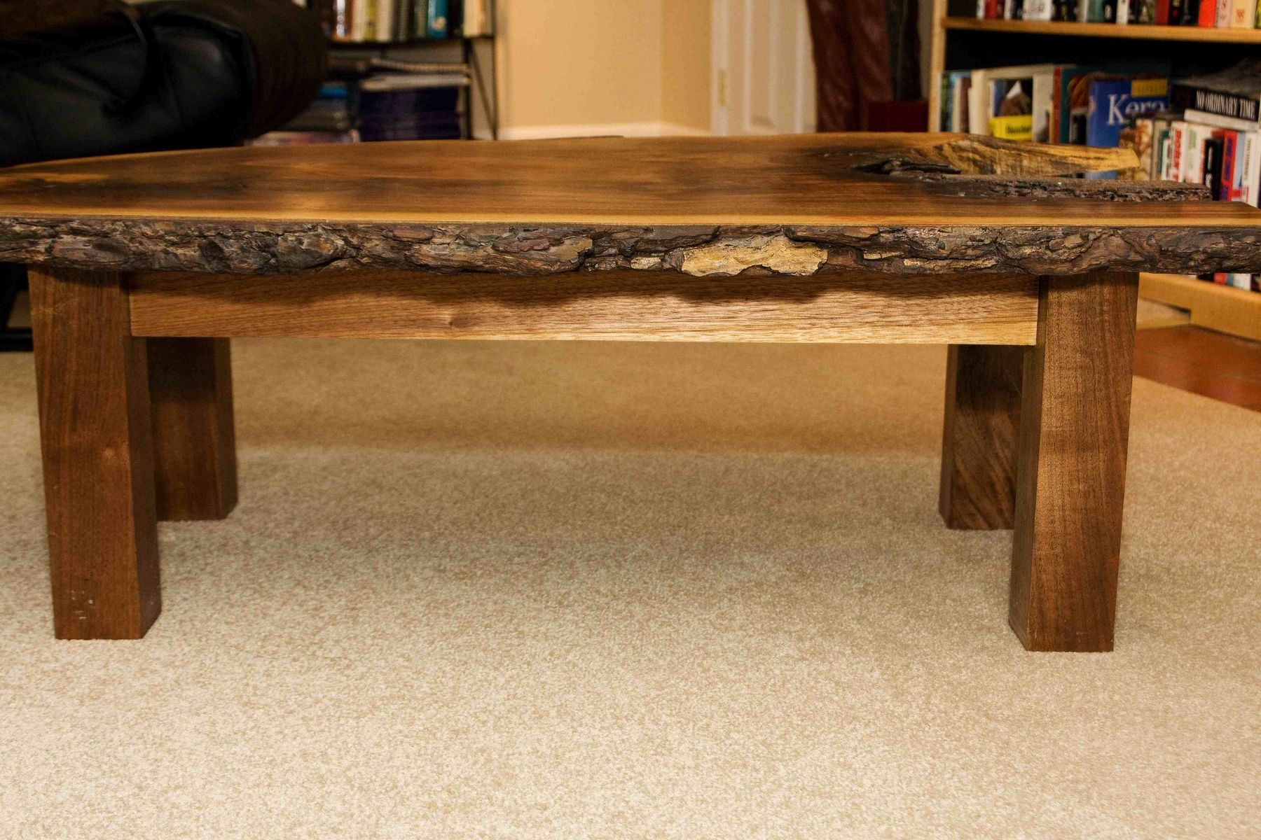 Handmade walnut coffee table by design by jeff spugnardi Handcrafted coffee table