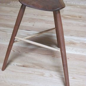 Hand Crafted Three Legged Stool By Rats Wood Creations