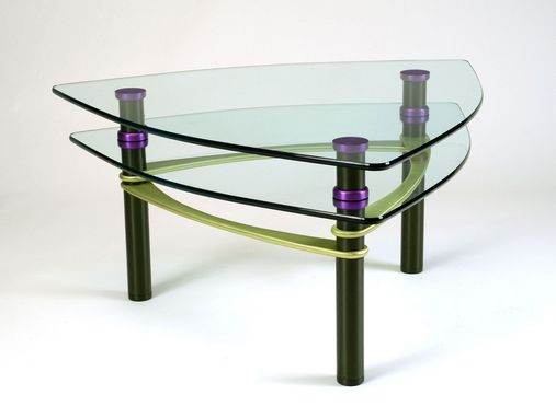 Custom Made Maya Strata Coffee Table