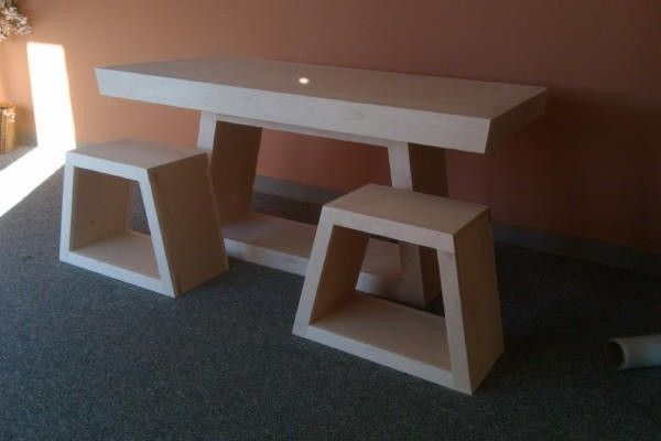 Hand Made Trapezoid Table By Wwbeds Custom Furniture