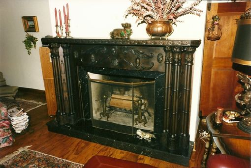 Custom Made Carved Mantel