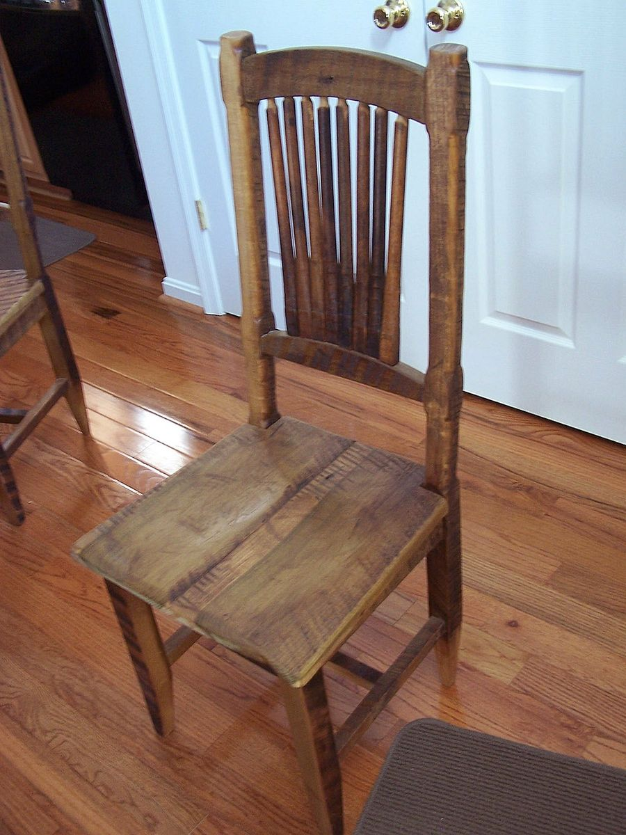 Buy Custom Reclaimed Antique Barn Wood Rustic Spindle Back Chairs Made To Order From The Strong