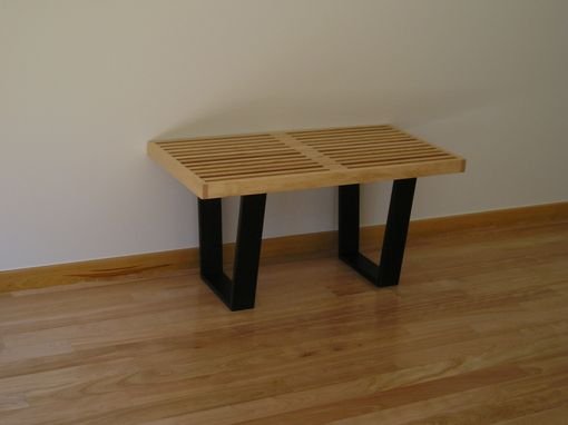 Custom Made Birch And Wenge Bench