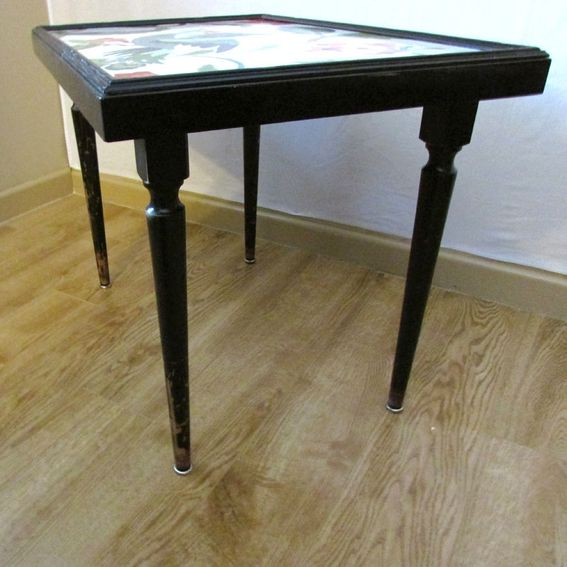 Hand crafted peacock side table end table or small coffee for Peacock coffee table