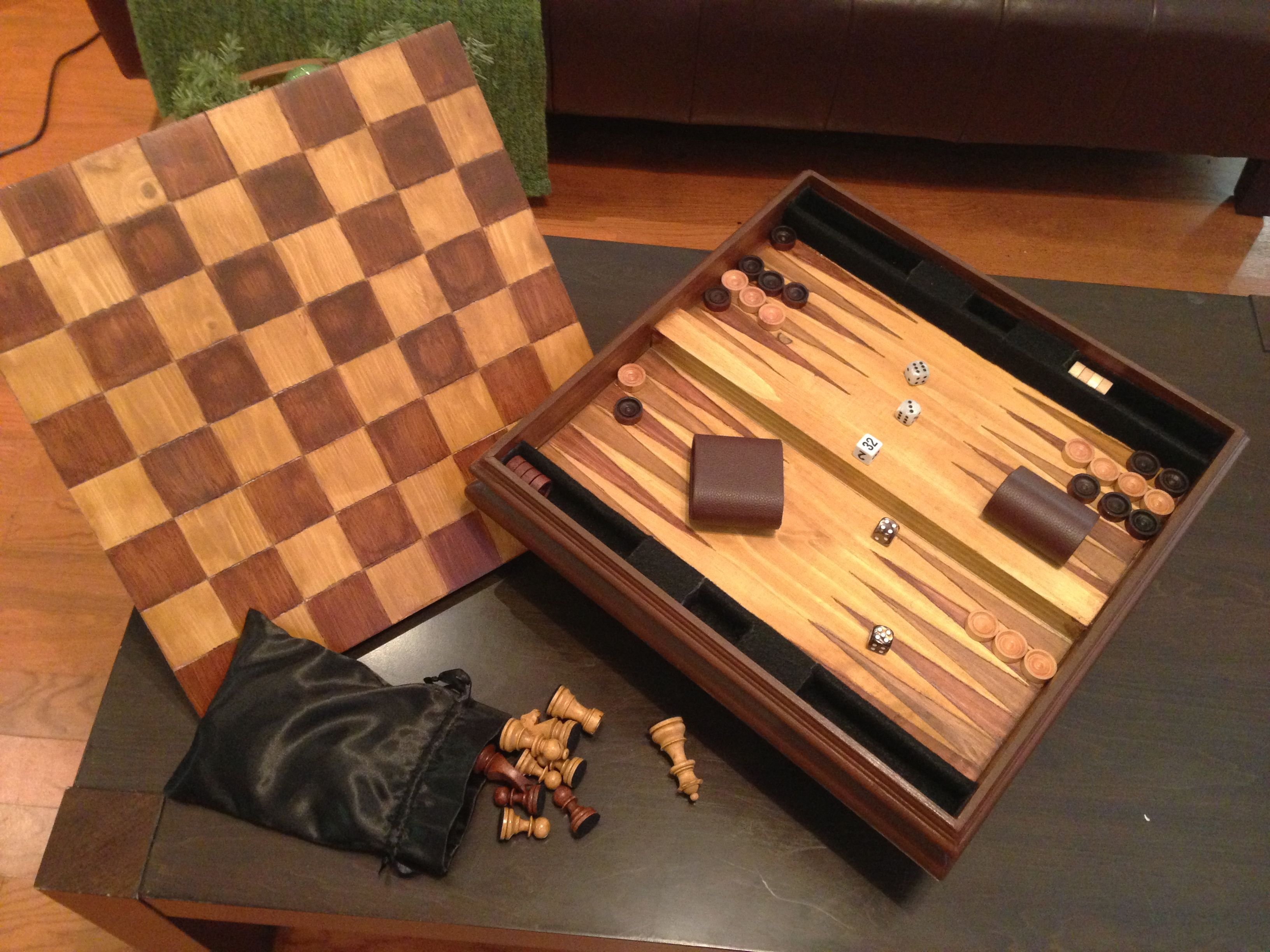 Hand Crafted The Hidden Game Board By Custom Chess