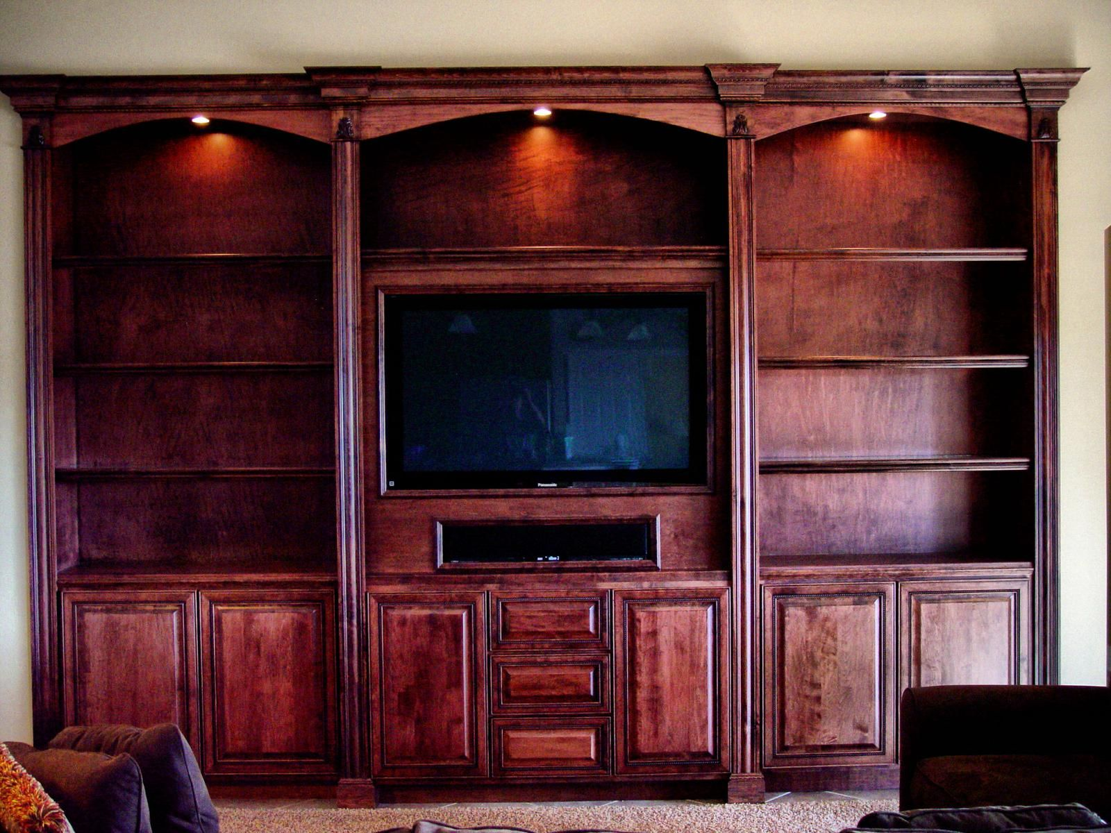 Hand Crafted Built In Entertainment Center By Dk Kustoms