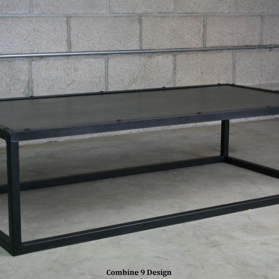 Reclaimed Wood Mid Century Coffee Table: Hand Crafted Modern Industrial Coffee Table, Minimalist