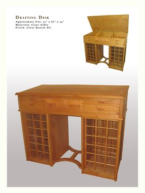 Custom Made Architectural Drafting Desk