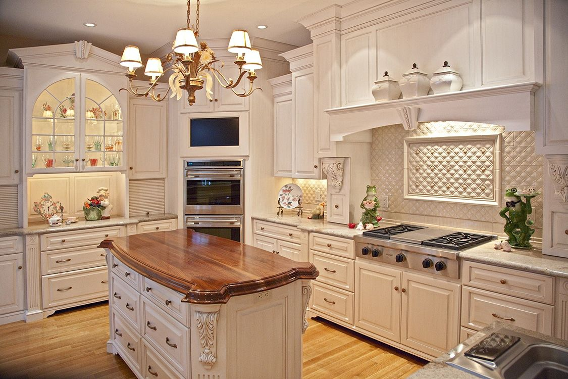 Custom painted glazed kitchen by brunarhans kitchen and for Pictures of white glazed kitchen cabinets
