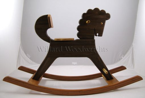 Custom Made Walnut Hardwood Rocking Horse
