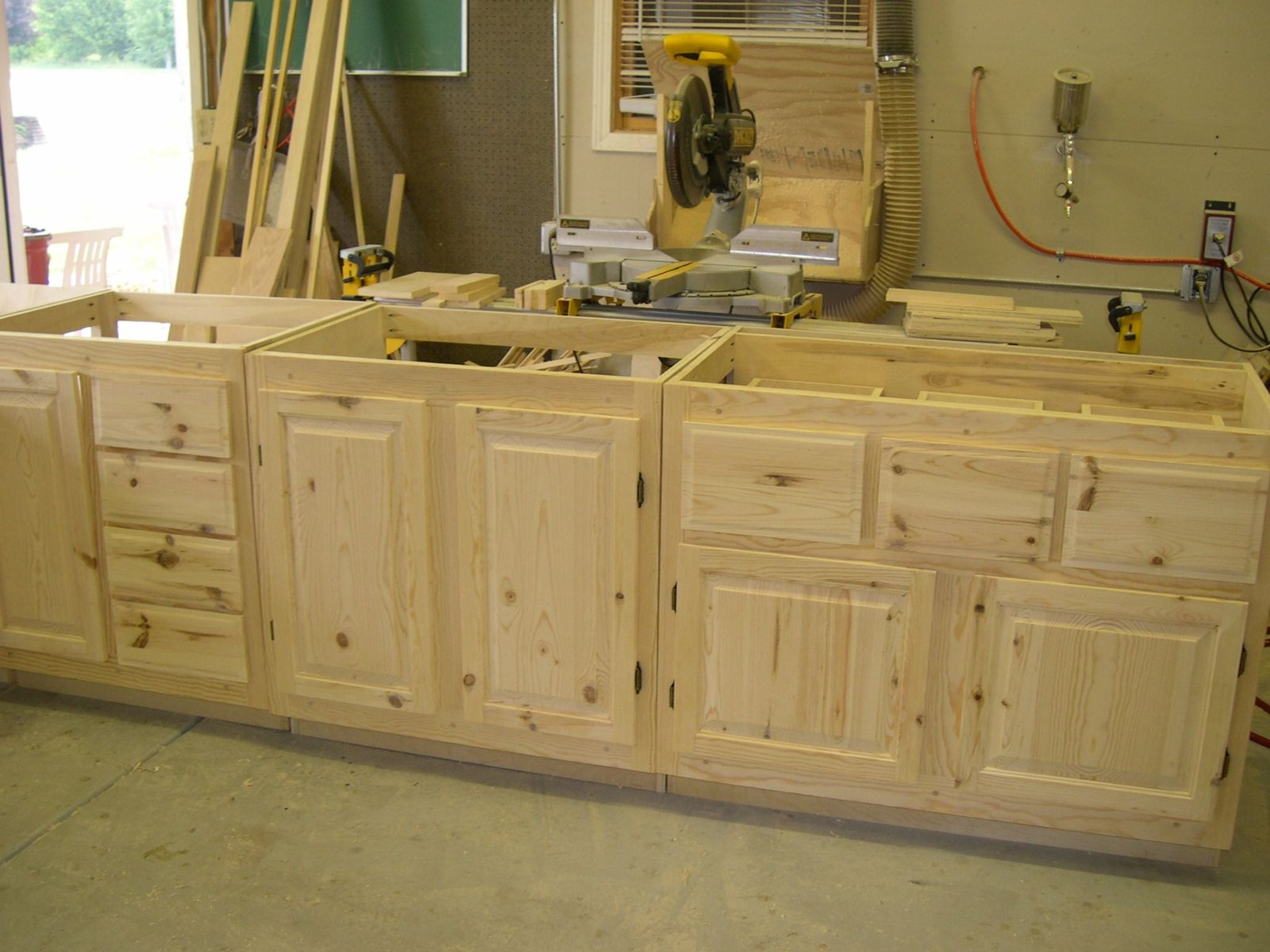 Handmade knotty pine cabinets by pureamerican creations - Custom made cabinet ...