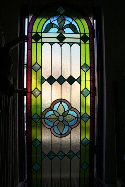 Custom textured stained glass panel by cathedral stained for Textured glass panels