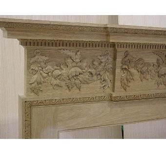 Custom Made Traditiona Fireplace & Mantel