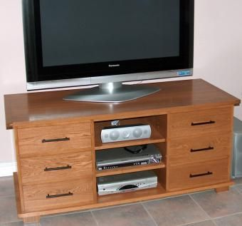 Custom made tv console by glen briggs woodworks - Made com meuble tv ...