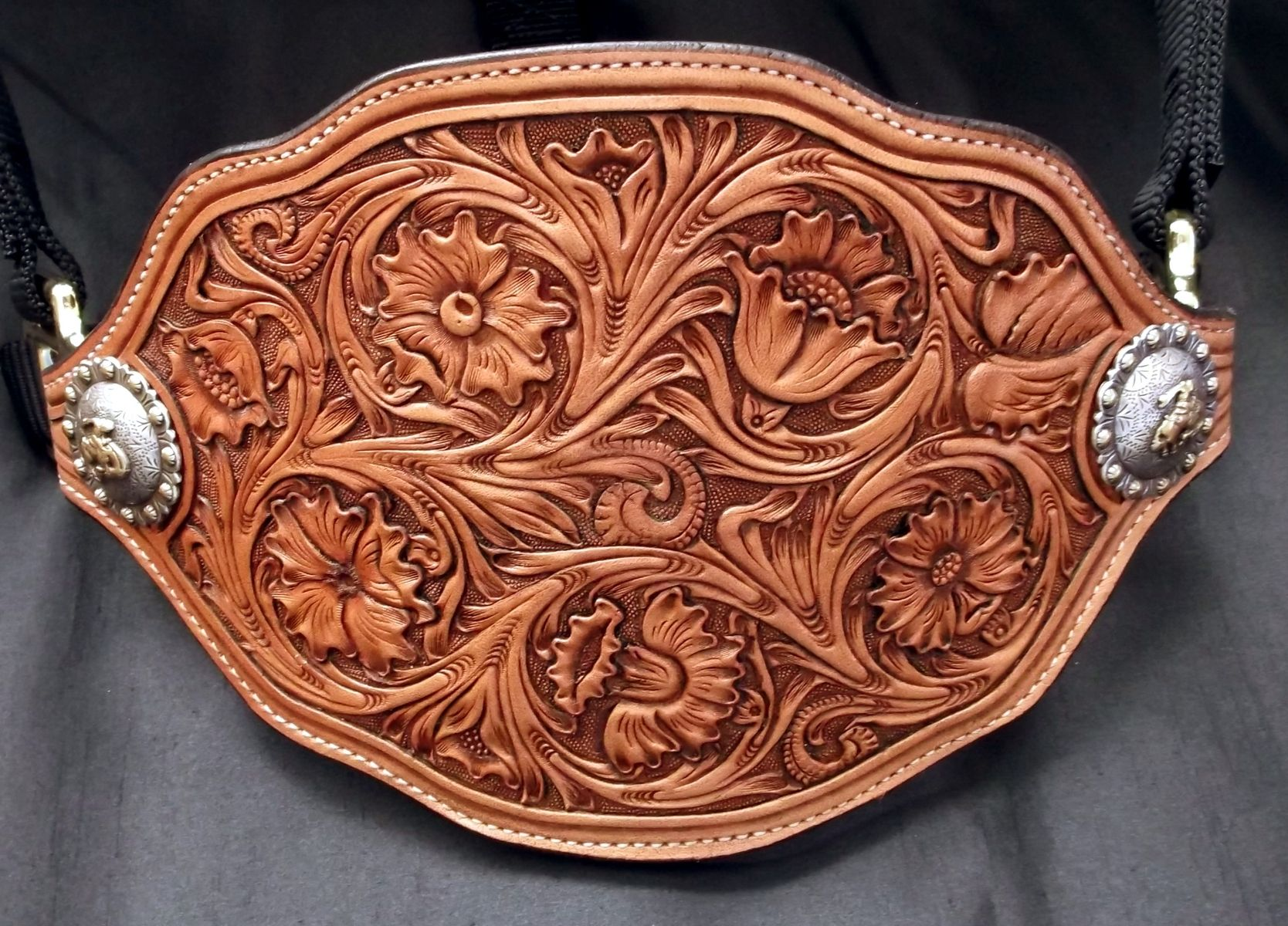 Hand Made Custom Leather Bronc Halters By Double U Leather
