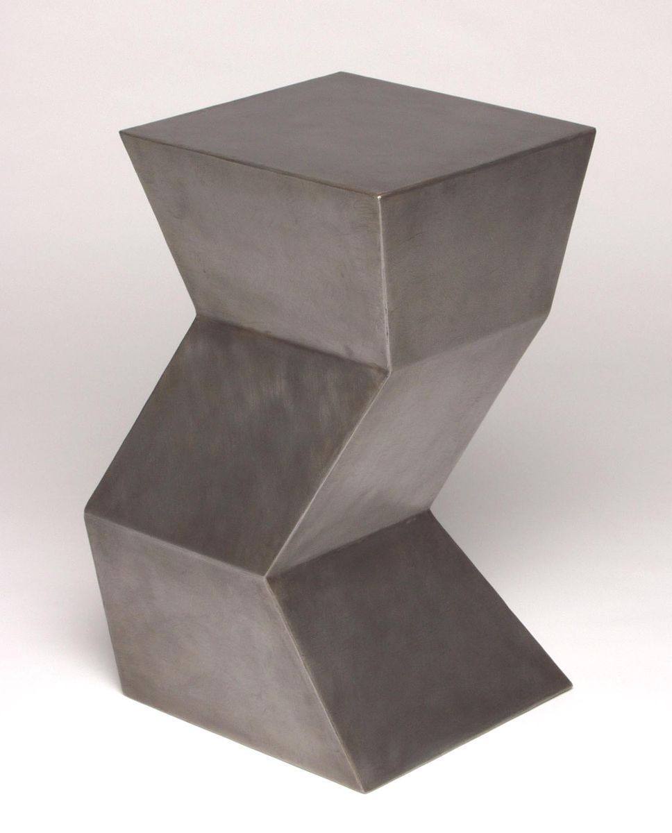 Hand Crafted Zig Zag Side Table By Eric David Laxman