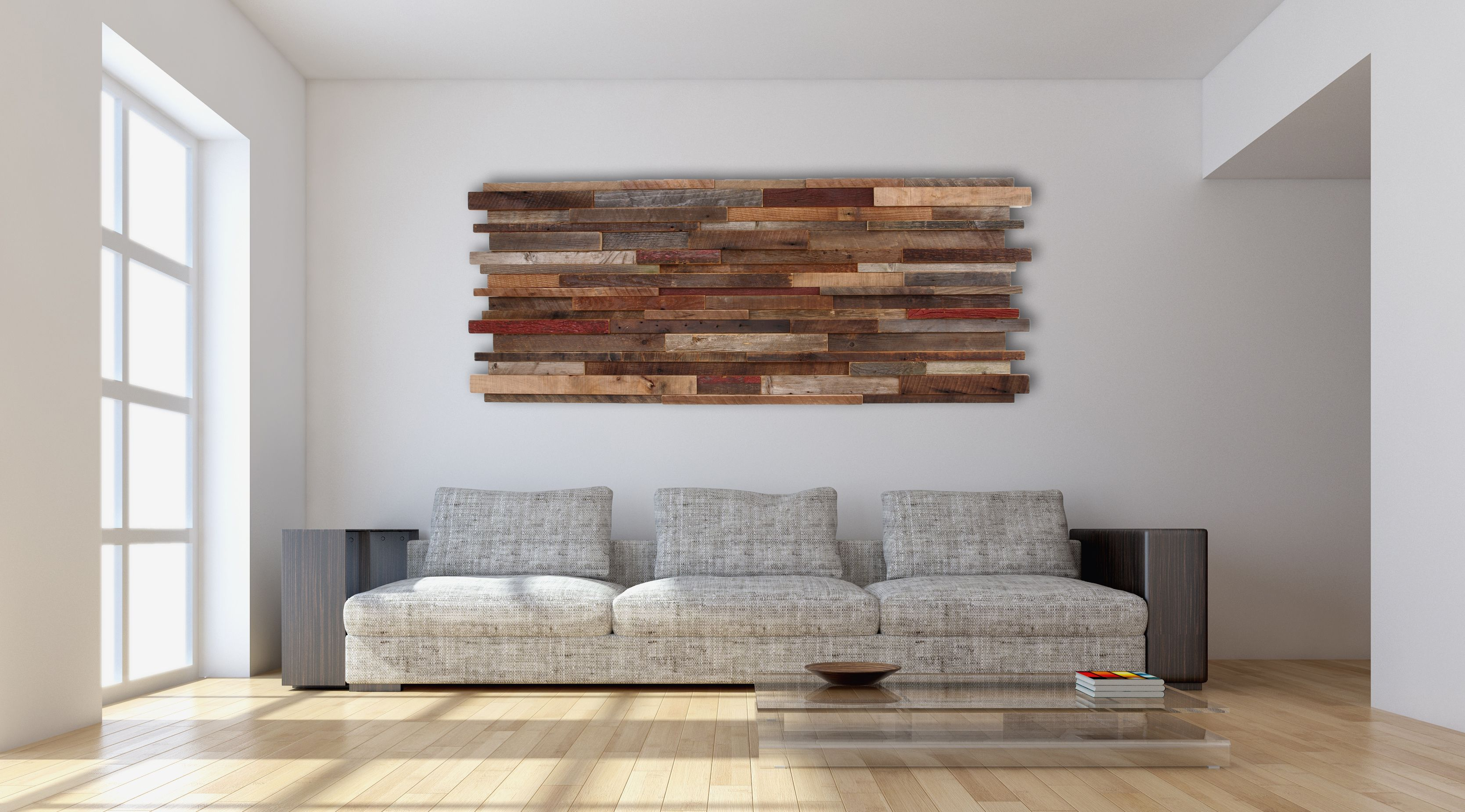 Hand Made Wood Wall Art Made Of Old Reclaimed Barnwood, 60 ...