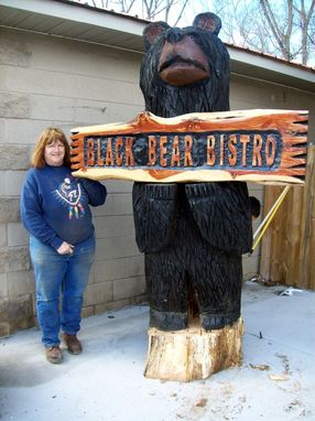 Custom Made Giant Carved Bear