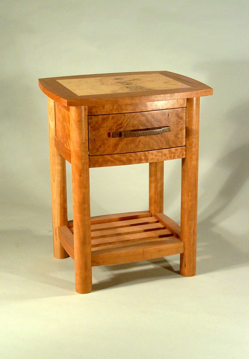 Hand Made Curved Nightstand By Tom Mcfadden Furniture