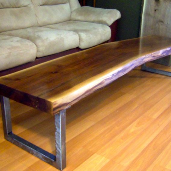 Legs For Live Edge Coffee Table: Hand Made Live Edge Black Walnut Coffee Table With Square