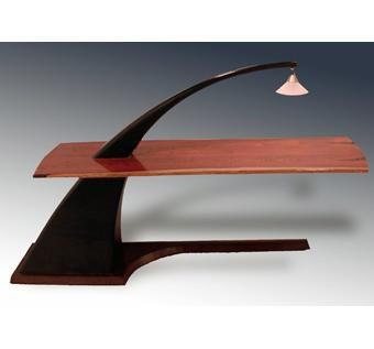 Hand Crafted Cocobolo Writing Desk by Hudson Design Studios