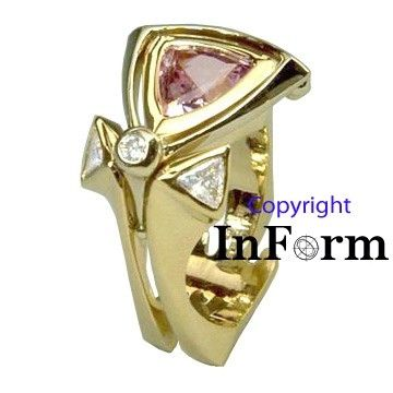 Custom Made Gold Ring With Pink Spinel
