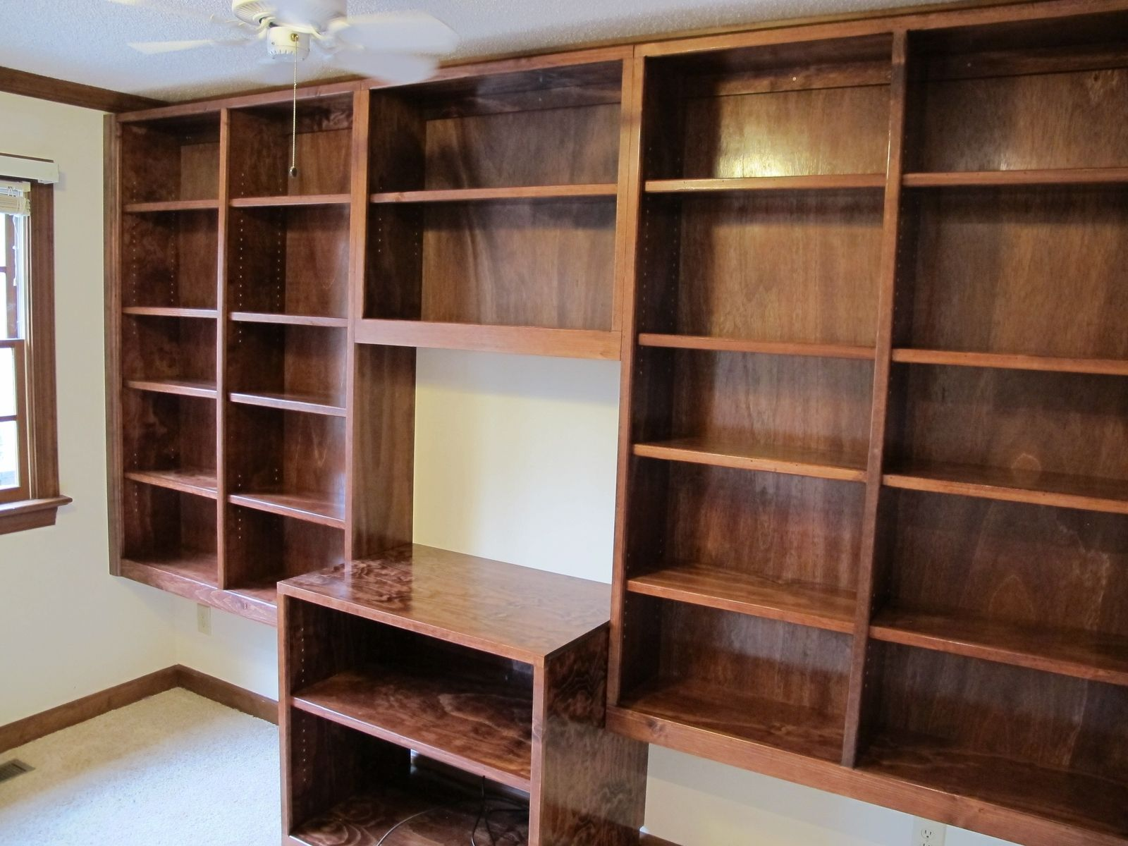 Handmade Built In Bookshelves By Carolina Woodworking