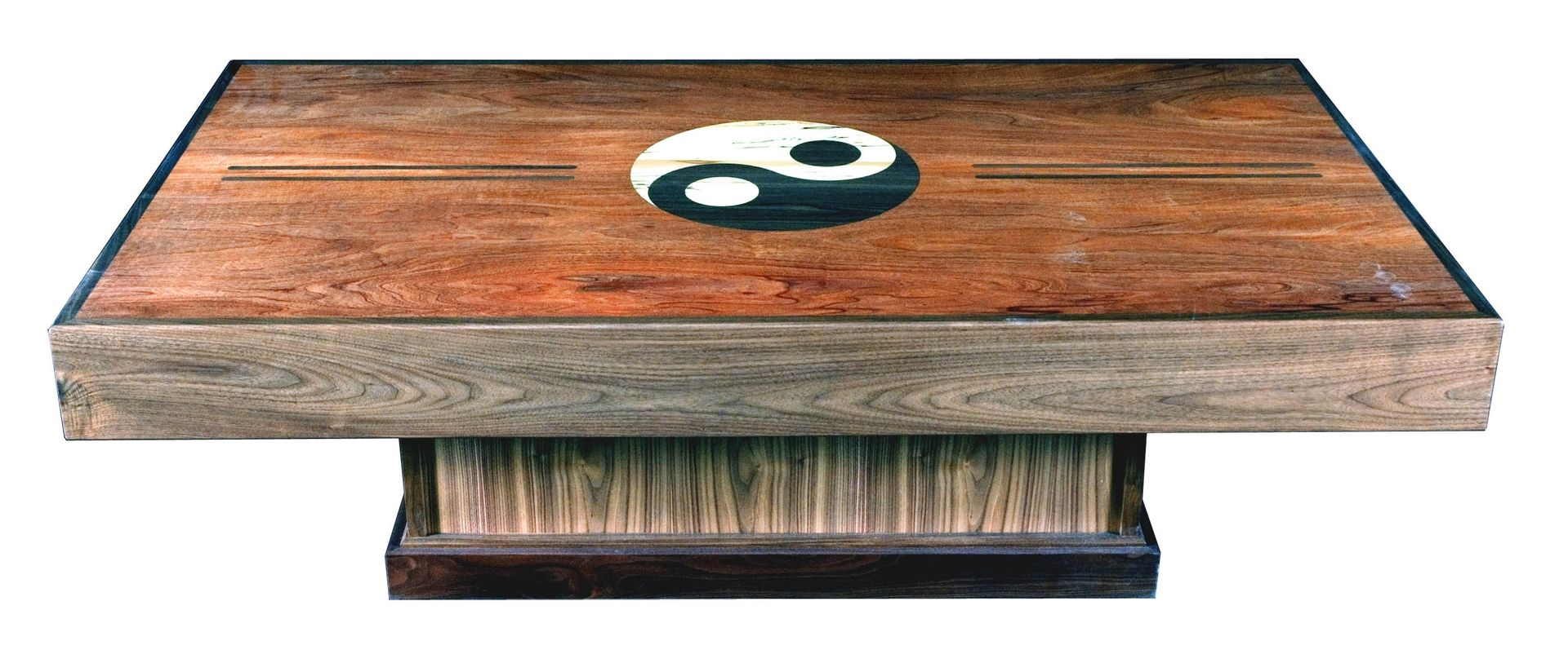 Handmade yin yang tean table by myers design inc for Table yin yang