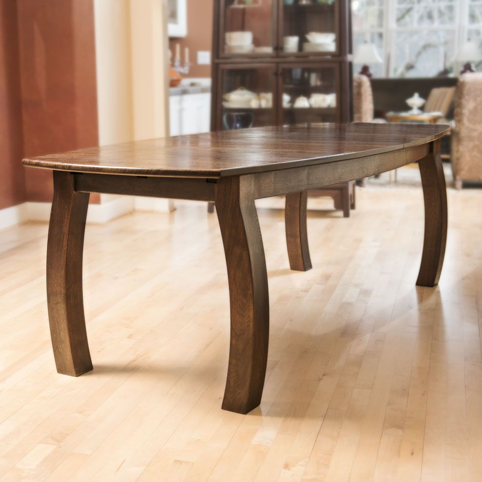 Custom made walnut expandable dining table by mitas for Expandable furniture