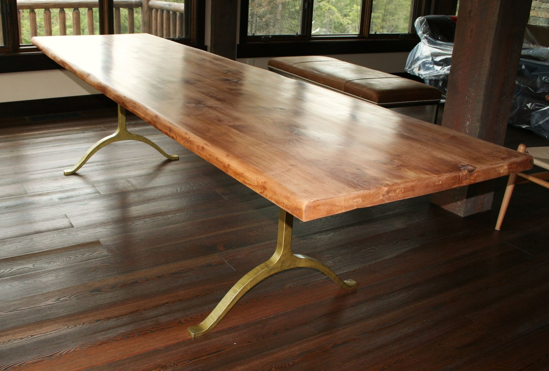 Handmade rustic dining table by echo peak design for Mesas grandes