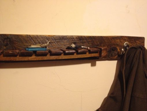 Custom Made Chair And Pallet Wood Coat Rack And Shelf - Entry Organizer - Bathroom Shelf - Key Rack - Reclaimed