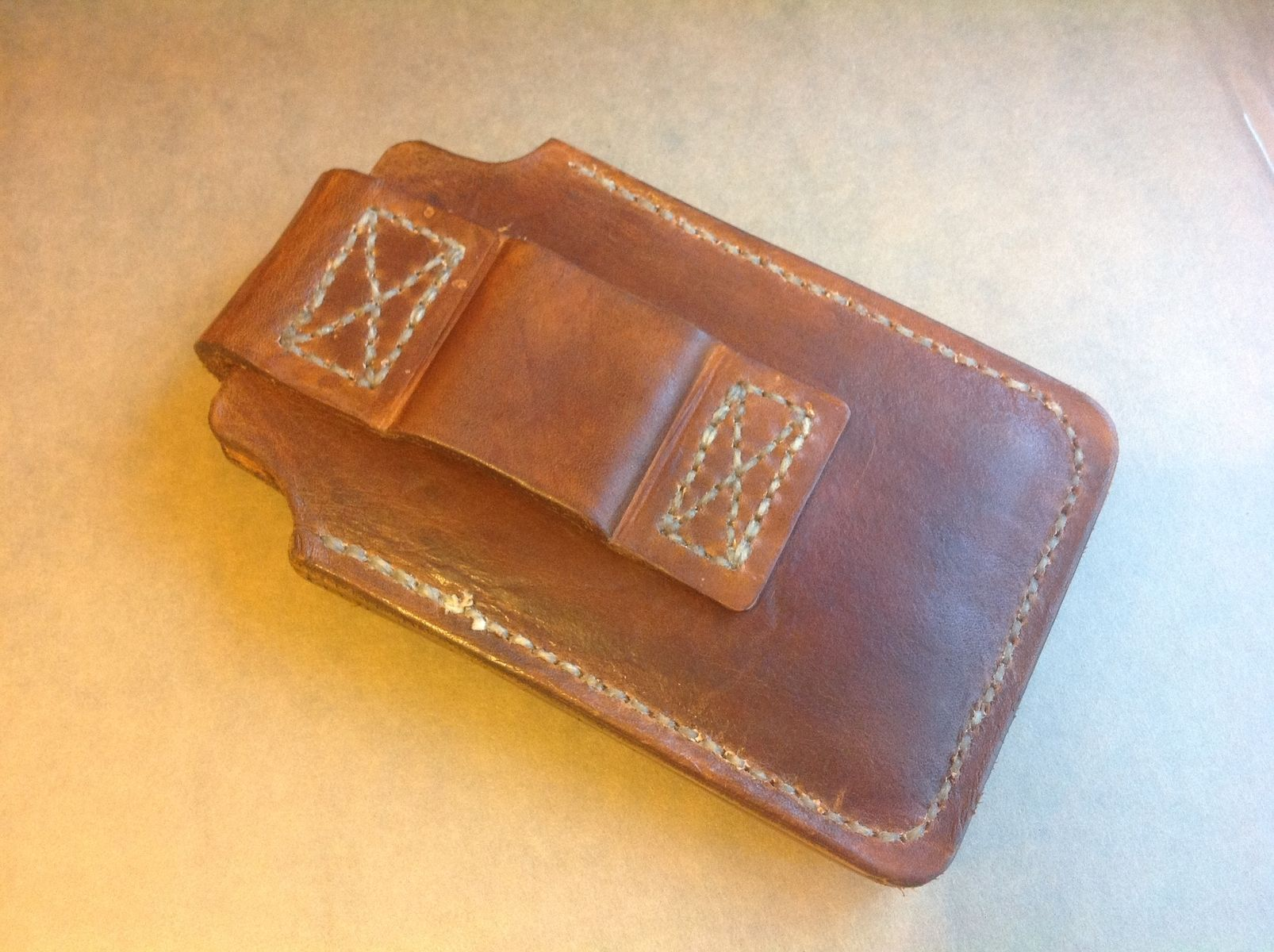 Custom Made Leather Cell Phone Holster For Samsung Galaxy S5 , Can Be ...
