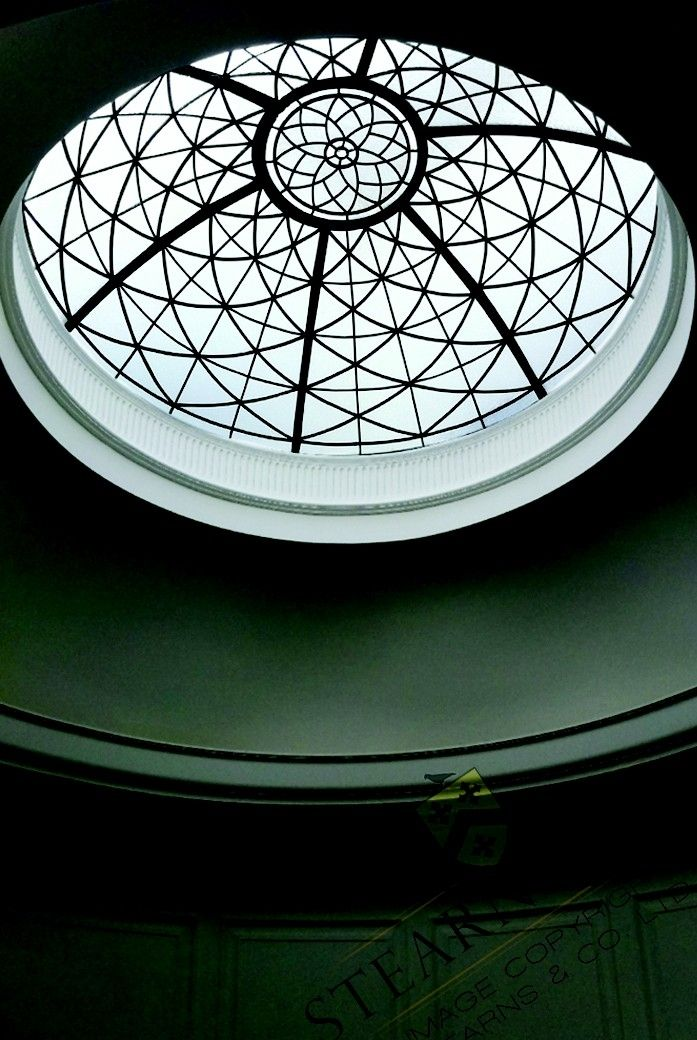 Custom Made 6 Diameter Leaded Glass Ceiling Dome By