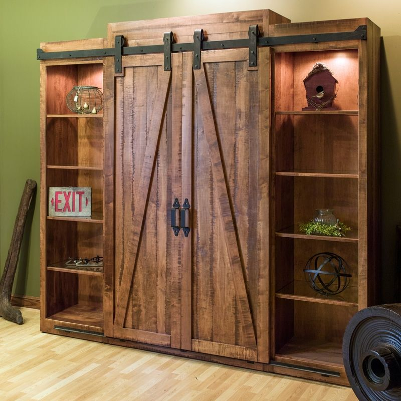 Buy a hand crafted settlers entertainment center made to for Door furniture