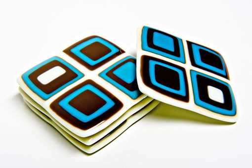 Custom Made Coasters, Coasters, Coasters- Fused Glass
