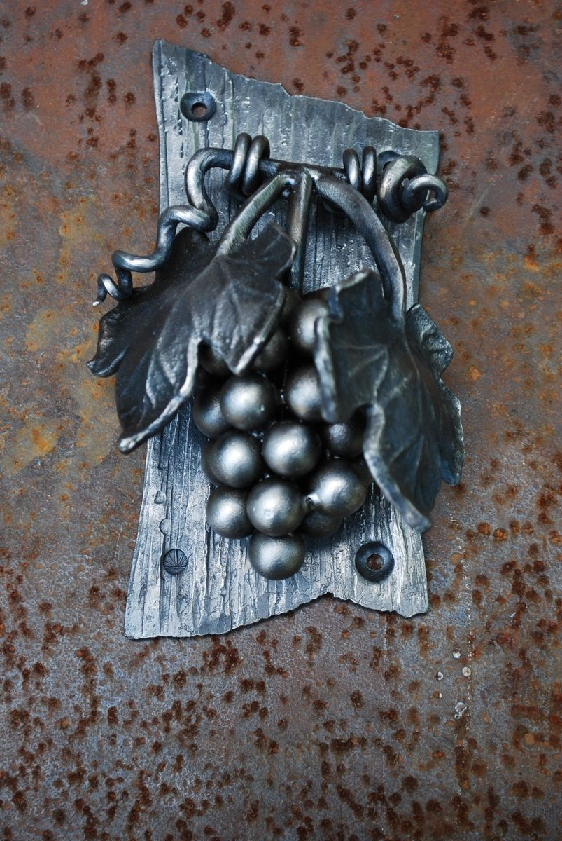 Hand Crafted Grape Cluster Wine Door Knocker By Organic