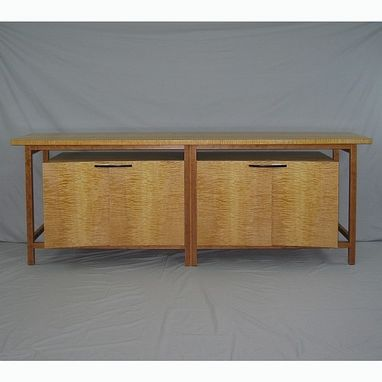 Custom Made Tiger Maple Stereo Cabinet