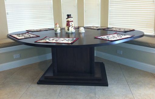 Custom Made Kitchen Area Table For Corner Bench Seating